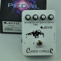 pédales d'effets flanger achat en gros de-JOYO JF-07 Classic Flanger Pédale d'effet guitare avec circuit de simulation BBD
