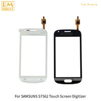 Wholesale S7562 Galaxy S Duos Touch - 5pcs lot For Samsung Galaxy S Duos S7562 S7560 Front Touch Screen Panel Digitizer Outer Glass Sensor Replacement Parts Black White Color