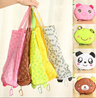 Wholesale 12 Cartoon Animals Bag - Reusable Shopping Bag Cute Animal Cartoon Folding Eco Shopping Waterproof Travel Bag Pouch Tote Handbag Shopping Tote 12 design KKA1540