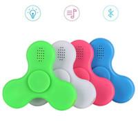 Wholesale Rainbow Speakers - LED Fidget Spinner with Bluetooth Speaker Handspinner LED Rainbow Light Luminous Hand Spinners Fidget Finger Toys