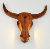 Holz Pub Bar Preise Chinesisch Wand Lampe Schlafzimmer Nachttisch Vieh Tau Kunst Licht