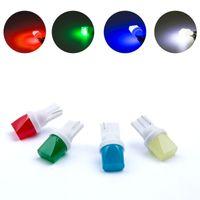 mavi araba kubbe lambaları toptan satış-T10 w5w T10 3d LED W5W 2825 Beyaz Işıklar Araba Yan Yön Göstergesi Plaka Işık Kapı Haritası Festoon Dome Lamba Ampuller DC 12 V