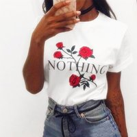 Wholesale Wholesale Hot Pink Tee Shirts - Hot sale new arrival women clothing high quality cotton women tees 6 colors flower letter print women T-shirt free shipping