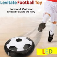 Wholesale Glide White - Air Power Soccer Ball Disc Indoor Football Toy Multi-surface Hovering and Gliding Toy