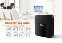 Wholesale tv box built wifi for sale - Group buy New arrival TX3 mini Android TV BOX amlogic S905W quad core GB GB built in WIFI smart media player