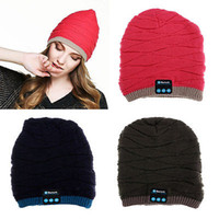 Wholesale Original Wireless Headphones - 100% Original Soft Warm Beanie Hat Wireless Bluetooth Smart Cap Headset Headphone Speaker Mic Stereo Bluetooth Hat YYA576