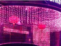 rideau de lumière achat en gros de-Mariage fond de décoration de fenêtre imperméable à l'eau en plein air LED scintillement lumière LED vacances lumières chaîne de 9M * 1M 450 LEDS rideau lightS