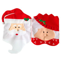 Wholesale Christmas Decorations Buy - Christmas Gift Santa Chair Cover Dining Table Decorative Gift , must buy for family or friends gift