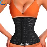 Wholesale spiral latex - Wholesale- LSYCDS Hollow Out Breathable Smooth Three Spiral Steel Bone Hot Body Shapers Women Plus Size 6XL Waist Trainer latex for Ladies