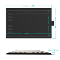 Wholesale Tablet Electromagnetic - New Huion 1060 Plus Pen Tablet Graphic Drawing Tablet with 8 GB Built-in Card Reader Huion 1060 Plus Updated Version Graphic Tablet