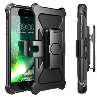 Wholesale Dual Armor Case - Defender Armor Case for iPhone 7 7Plus Samsung S8 S8Plus Dual Layered ShockProof Case with Belt Clip and Kickstand 360 Full Protection
