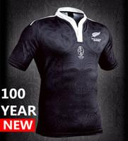 Wholesale ripped t - 100 year Anniversary Commemorative Edition New Zealand rugby jerseys 2017 Maori All Blacks jersey Australia T shirt