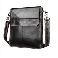 Wholesale bag mens cowhide - Mens Portrait Style Messenger bags First Layer Cowhide Genuine Leather Bags Business Casual Cross Body shoulder bag free shipping