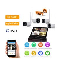 Wholesale Bullet Display - New Arrival 960P security cameras wireless nvr kit 4ch display screen cctv system camera kit ANN