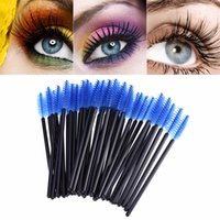 Wholesale Mascara Comb Brush - Disposable Eyelash Brush Eye Lash Makeup Brush Mascara Wands Applicator Wand Brushes Eyelash Comb Brushes Spoolers Makeup Tool