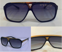 Wholesale Millionaire Sunglasses - luxury millionaire evidence sunglasses retro vintage men brand designer sunglasses shiny gold summer style laser logo gold plated