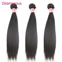 Glamorous Hair Products Malásia Virgin Hair Straight 3 Bundles Mix Length Peruvian Indian Brazilian Hair Humano Weave Cheap Straight Weave