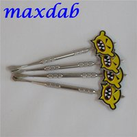 Wholesale Cool E Pipes - Stainless steel e cigarette dabber tool titanium dab nail for wax glass pipe silicone container with cool design