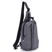 Cool Vintage Travel Escursionismo Scalata Back Pack pacchetto messaggero tela nera Tracolla Corpo all'aperto Borse Sport Triangle Sling Chest Bag