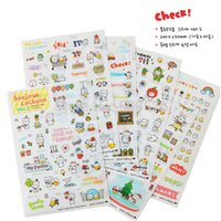 Wholesale Korea Diary Cute - Wholesale- Korea Sticker Cute Pig Travel Series PVC Sticker For DIY Scrapbook Diary Phone Decoration Paper Sticker Kids Gifts TS004