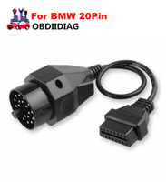 Wholesale Bmw X5 Usb - For BMW 20Pin ODB OBD2 Cable 20Pin to 16Pin Female OBDII Cable for BMW 20 Pin for e35 e36 X5 Z3 series Diagnostic Tool