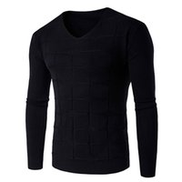 Men square neck sweater - New Soft Warm Sweater Men Brand Clothing Slim Fit V Neck Pullover Men Sweaters Fashion square Knitted Pull Homme