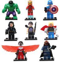 koruma blokları toptan satış-DHL 60 takım Süper Kahramanlar Avengers Thor Hulk Demir Adam Kaptan Amerika Yapı Taşları tuğla Oyuncaklar sy161