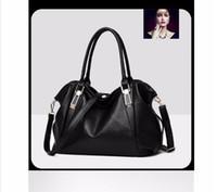 Wholesale Ladies Office Totes - Herald Fashion Designer Women Handbag Female PU Leather Bags Handbags Ladies Portable Shoulder Bag Office Ladies Hobos Bag Totes