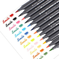 Wholesale Sta Markers - STA 12 Colors Set Artist Brush Set Sketch Marker Pens Water Based Ink Twin Tip Watercolor Marker Pen for Graphic Drawing Manga