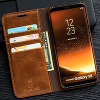 Wholesale Musubo Iphone Cases - Musubo Luxury Leather Flip Case For Samsung Galaxy Note 8 NOTE 5 Wallet Case Stand Cover for S8 Plus S7 Edge with Card Slot