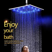 Wholesale glow temperature - China Factory Supply Water Glow LED Color Change According To Water Temperature Bathroom Square Shower Head