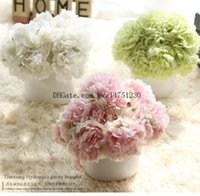Wholesale 2017 new simulation peony flower to the beam simulation flower foreign trade home decoration crafts wedding fake flowers retail f