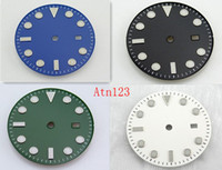 Wholesale Movement Miyota - 1PC BLIGER 28.5mm 31.5mm Watch Dial For Miyota 82 Series Mingzhu 2813 3804 movement 40mm 43mm case Stainless Steel Black Watch Dial P346-371