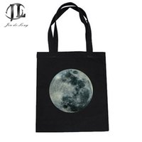 handbag design cloth NZ - Wholesale- Cloth Canvas Women Shopping Shoulder Bags Ladies Tote Girls Simply Design Top-Handle Handbag