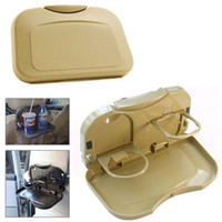 auto rücksitz getränkehalter großhandel-Faltbarer Auto-Rücksitz-Tabellen-Behälter-Standplatz-Nahrungsmittelpokal-Getränk-Flaschen-Zahnstangen-Halter