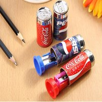 Wholesale Mini Pencil Sharpeners - Cute Mini Cola Pencil Sharpener With Eraser, Pencil Sharpener Student School Supplies