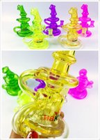 Wholesale Cheapest Water Pipes - 2017 Popular colorful mini size glass water pipe 14mm female joint cheapest bong inliner perc recycler