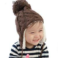 Wholesale Newborn Boys Photography Props - 2017 Baby Winter Hat Boy Cap Girl Cotton Hat Baby Warm Cap Boy Thick Hat For Infant Newborn Photography Props Unisex
