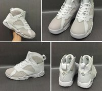 Wholesale Box Ds - Wholesale DS 2017 Air Retro 7 Pure Money White Metallic Silver With Box Best Quality Basketball Shoes