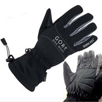Wholesale Bicycle Winter Gloves Waterproof - Wholesale- GORE BIKE WEAR CROSS GORE-TEX Waterproof and Breathable Winter Riding gloves Bicycle gloves knight glove of polyester