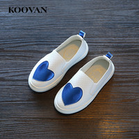 Koovan Kids Loafer Love Cut-Out Chaussure décontractée 2017 New Spring Summer Boys Girls Chaussure de course à pied Fashion W482