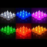 Wholesale 3 cm Battery Operated Flicker Flameless LED Tealight Tea Candles Light Wedding Birthday Party Christmas Decoration