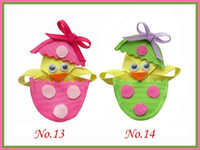 Wholesale Bugs Rabbit - Hand Customize Hair Accessories Free Shipping 18pcs BLESSING Girls Bug Bow Clip Egg rabbit For Easter day
