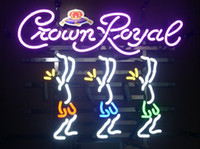 Wholesale crown royal neon signs - Fashion New Handcraft Crown Royal Play Today Work Manana Real Glass Beer Bar Display neon sign 19x15!!!Best Offer!