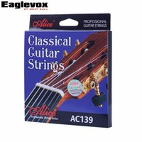 Wholesale Nylon Strung Guitar - wholesale Classical Guitar Strings titanium Nylon Silver-plated 85 15 Bronze Wound 028 0285 inch Alice AC139