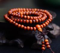 Wholesale Tubular Jewelry - DHL 108 *0.8cm Wenge Prayer Beads Tubular Tibetan Buddhist Mala Buddha Bracelet Rosary Wooden Bangle Jewelry