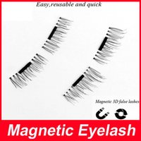 Wholesale Mink Eyelashes Glue - Magnetic Eyelashes 3D Mink handmade lashes no glue easy remove False Eye Lashes Extension Super Natural Long Fake Eyelashes