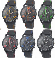 Wholesale aviator quartz sports for sale - Group buy 300pcs Mix Colors Men Causal SPORT Military Pilot Aviator Army Silicone GT Watches RW020
