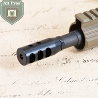 Wholesale 1 x28UNEF Thread Black High Quality Steel Short Competition Muzzle Brake with Jam Nut