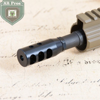 Wholesale Nut Steel - 1 2x28UNEF Thread 223 5.56 Black High Quality Steel Short Competition Muzzle Brake with Jam Nut
